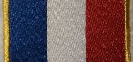 Francia Zászlós felvarró